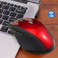 2.4G Hz 6D 1600DPI USB Wireless Optical Gaming Mouse Mice For Laptop Desktop Lot