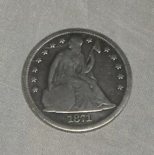 "SEATED LIBERTY SILVER DOLLAR ""1871"" CIRCULATED CONDITION, DESIRABLE DATE!"