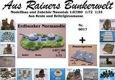 Für Diorama Nr.017 Erdbunker Normandie 1:87/H0+1:72