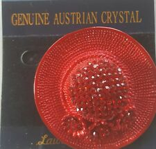 Red Hat Flowers Lauren Spencer Brooch Pin Jewelery Australian Crystal New