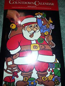 HALLMARK Dress Santa Claus ADVENT CALENDAR Vintage COUNTDOWN TO CHRISTMAS New