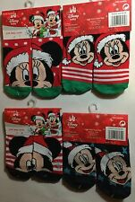 Baby Girl/Boy 2 Pairs Socks with Disney Mickey / Minnie Mouse & Christmas