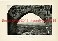 View from Ruined Abbey, Bellapais, Cyprus, Book Illustration (Print), 1935
