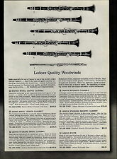 1954 PAPER AD Ledoux Woodwinds Instruments Clarinet Flute Bontempi Accordions