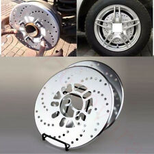 4x Silver Aluminum Racing Disc Decorative Brake Rotor Cover Drum For Jeep Car