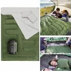 2 Person Double Sleeping Bag For Adults Size XL Green C 0 Degree Camping Hiking