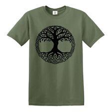 Yggdrasil Árbol Camiseta de la Vida Celta Tribal Tatuaje Regalo Roble Rey