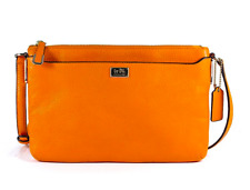 NWT Coach Madison New Swingpack In Leather (Light Gold/Bright Mandarin)