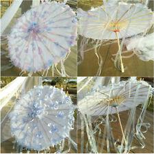 Wedding Parasol Silk Oil Paper Umbrellas Ancient Cosplay Dance Ceiling Decor
