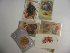 25 Older Thanksgiving Postcard Lot