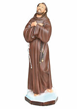 Saint Francis of Assisi resin statue cm. 55