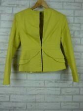Sheike Blazer Jacket Lime green Peplum Sz 10 Collarless