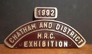 1992 Metal Model Railway Club Exhibition Plaque - Chatham & District Kent UK