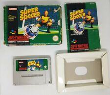 Super Soccer - SNES Super Nintendo CIB PAL UK FAST POST