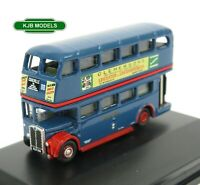 BNIB N GAUGE OXFORD 1:148 NRT007 RT Bus Browns Blue Double Decker Bus