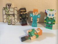 "Minecraft Figures 3""-4"" Lot Of 4"