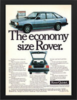 """1983 ROVER QUINTET AD A3 FRAMED PHOTOGRAPHIC PRINT 15.7""""x11.8"""""""