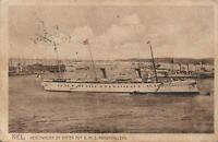 1909 VINTAGE S.M.Y. HOHENZOLLERN POSTCARD - sent from Kiel Germany to Sydney