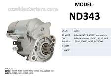 New starter motor suits Kubota tractors L3430, L4330, L48, L5030, M59, MX5000