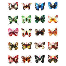Deko Schmetterlinge mit Magnet Magnetschmetterling Kühlschrankmagnet Kunststoff