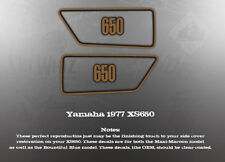 YAMAHA 1977 XS650 SIDE COVER DECALS GRAPHICS