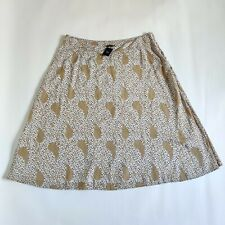 Marks and Spencer M&S Natural Mix Regular Length A Line Floral Skirt Size 22