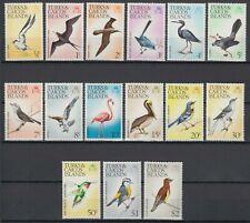 1973 TURKS & CAICOS ISLANDS SCOTT #265-79 MNH SET, BIRDS