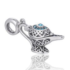 SILVER Charm Magic Aladino Luce Pendente Charm Fairytale gioielli idea regalo