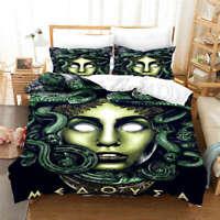 Wonderful Medusa In Myth 3D Quilt Duvet Doona Cover Set Pillow case Print