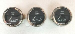 Smiths replica Electrical Oil Pressure Temp Volt Gauge 52 mm 12 v