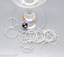 1000 SP Wine Glass Charm Rings /Earring Hoops 25x20mm