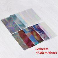Nail Art Foils Wraps Set Transfer Glitter Stickers Paper Decal Decoration Tips