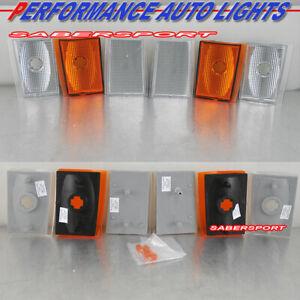Set of 4pcs Euro Clear Corner Lights for 90-93 Chevrolet C/K Full Size Truck SUV