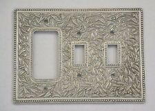 Vicenza Designs WPJ7012 San Michele WallPlate Jumbo Double Toggle Dimmer Opening