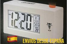 Reloj Despertador Proyector Control Voz Sonido Termómetro Alarma LCD