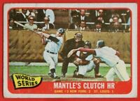 1965 Topps #134 Mickey Mantle GOOD+ Wrinkle New York Yankees FREE SHIPPING