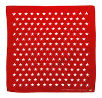 k092 - Rot Weiß Sterne Kopftuch Bandana Halstuch Tuch Biker Sport Kopfbedeckung