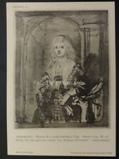 Drawings by Rembrandt LADY HOLDING A FAN - LA FEMME D'UTRECHT British Museum