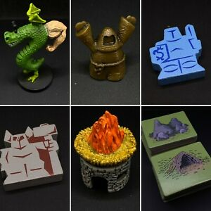 TROGDOR Board Game Replacement Pieces, Meeples, Cards, Map Tiles, Miniatures
