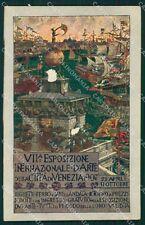 Venezia Città Esposizione d'Arte 1907 ABRASA cartolina XB5347