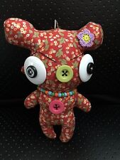 Unique & Cute Handmade Fabric Colorful Keychain - Little Monster