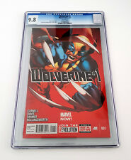 Wolverine (2013 Series) #1 Comic Book CGC 9.8 NM/MT 1st Issue White Pages GEM