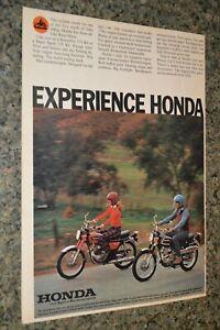 1973 HONDA SCRAMBLER 175 K6/SUPER SPORT 175 ORIGINAL ADVERTISEMENT AD POSTER 73