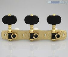 Gotoh 35G1800-EN Classical Guitar Tuners Machines SOLID BRASS w/ Ebony Buttons