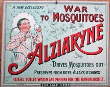 War to Mosquitos SUPER 1916 French Color Litho Advertising Sign, English Version