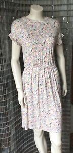 Cath Kidston white and multicolour Bunny Rabbit Dress Size 8 -10 NEW