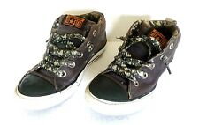 9329717d4a07eb Converse All Star Boys Army Green Camouflage Lace Shoes Sneakers Sz. 2
