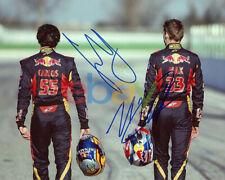 CARLOS SAINZ JR & MAX VERSTAPPEN SIGNED TORO ROSSO F1 FORMULA 1 8X10 PHOTO repri