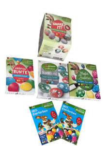 6-teiliges Ostereierfarben-Set Osterpaket Osterfarben Frühling Deko