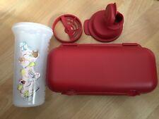 🎀Tupperware Kolumbus Eierbehälter + Quick Shaker Mix Fix Shaky 600ml Rot🎀